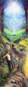 Transcending Death Fear on Enlightenment Path Spiritual Painting