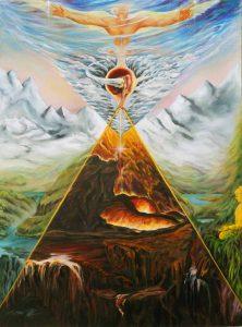 Hell Heaven Spiritual Journey Pastiche Painting William Blake John Martin